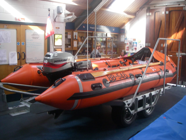 Another view of Appledore Lifeboat Station's Boarding boat