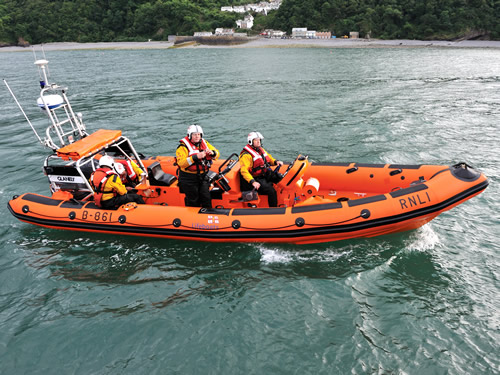 "Inshore lifeboat ""GLANELY"", RNLI code B-861"
